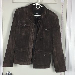 Mossimo 100% Leather jacket suede M womens